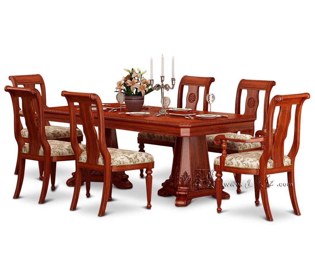 餐厅长餐桌组合