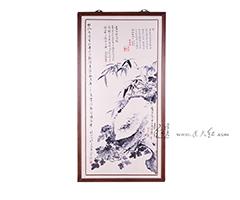 牡丹竹石图