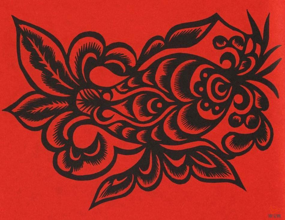陕西鱼文化与生殖崇拜剪纸