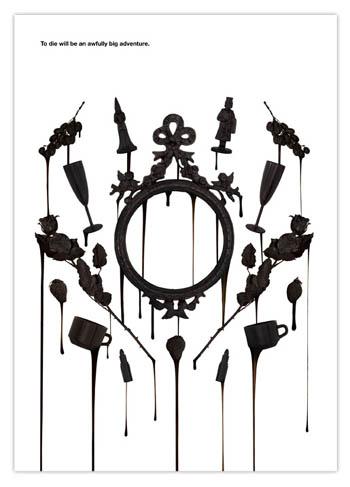 黑色系列墙面海报创意组合_海报设计欣赏_连天红(福建