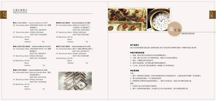 一组银行业务手册版式设计作品