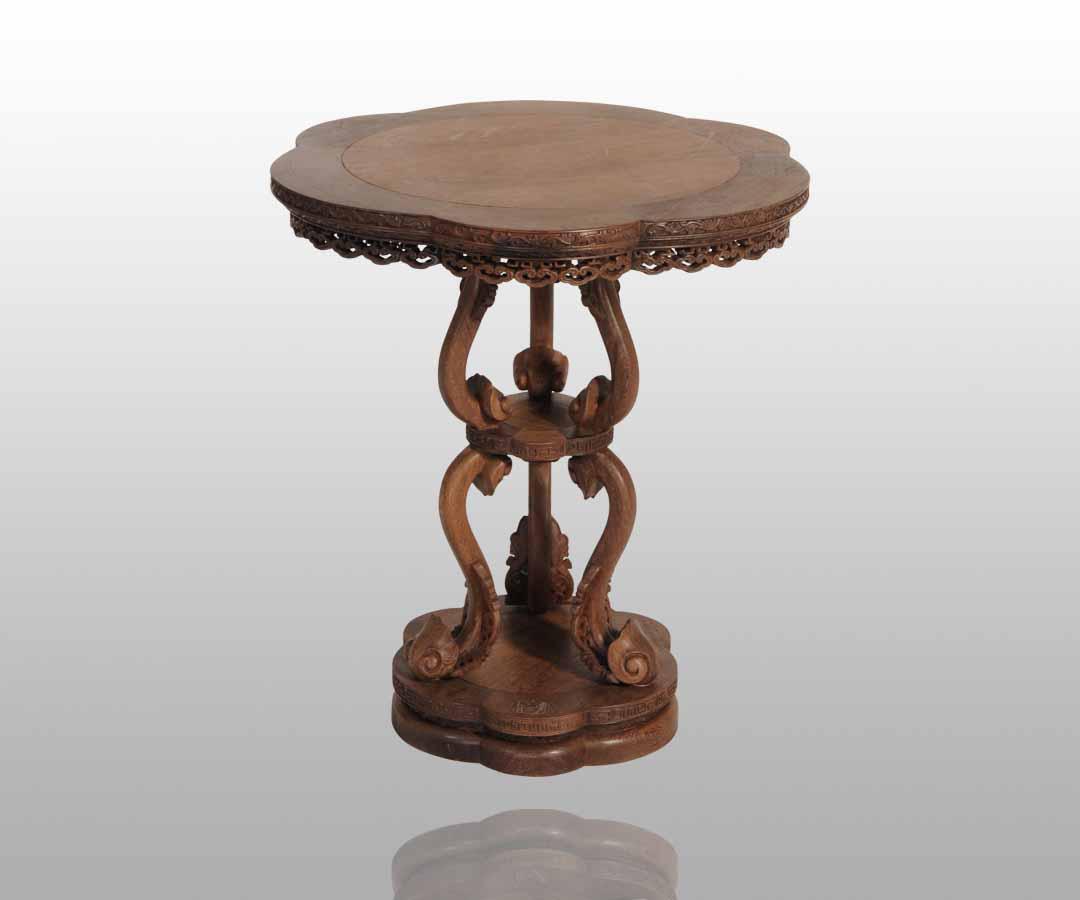 鸡翅木休闲系列(图); 圆桌 圆桌,家族,仿古家具; 仿古家具