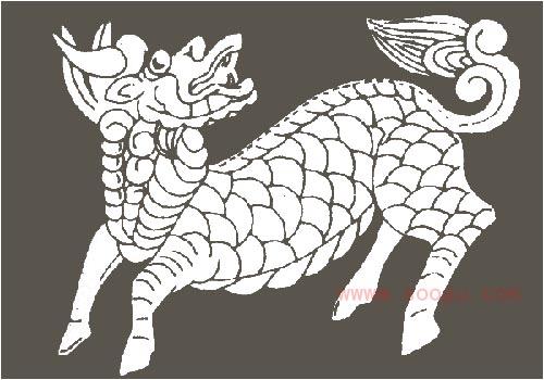 传统装饰图案麒麟(二)