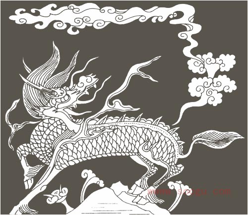 传统装饰图案麒麟(二)(2)