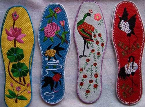 四川手工鞋垫花样图八角花图案