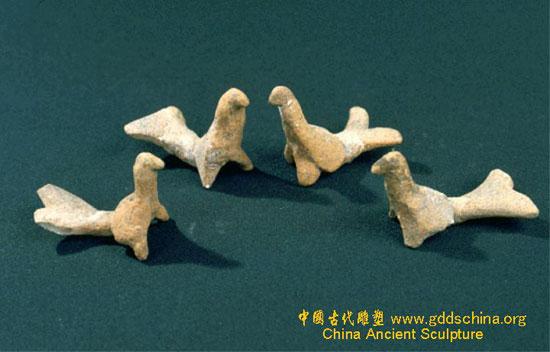 陶动物 新石器时代陶鸟
