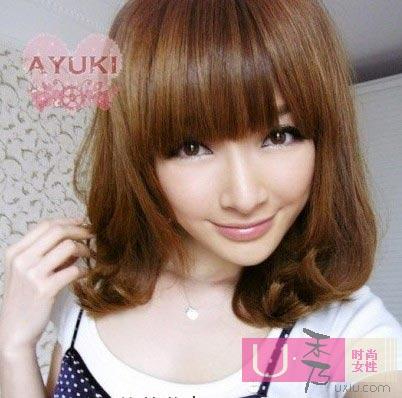 2010年流行发型棕色2:这款一些暗的颜色侨治烫发价目表图片