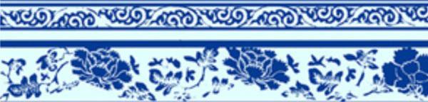 青花瓷贴图图片分享下载; 青花瓷纹图片; 传统牡丹纹样图片下载分享