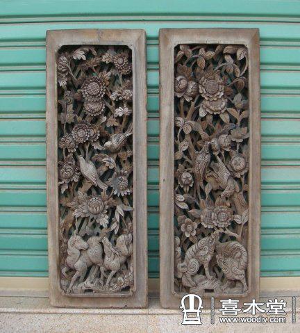 在云南大理白族建筑木雕上有许多牡丹