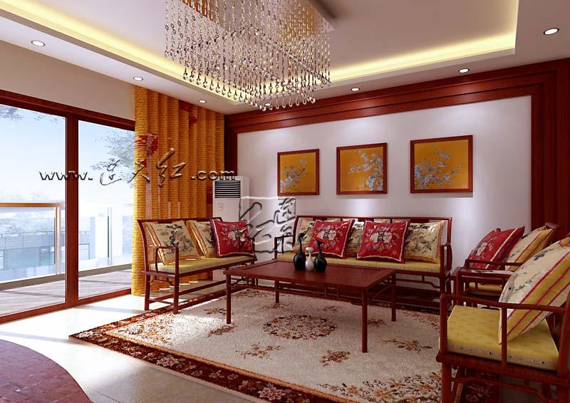 红木家具家装设计效果图