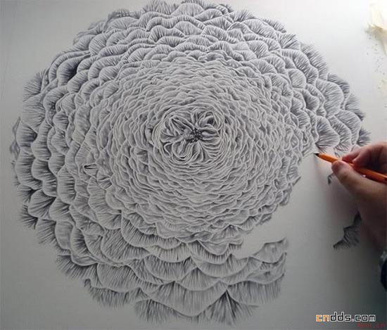 圆珠笔画出来的超现实素描