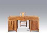 花卉纹办公桌+双喜纹靠背椅